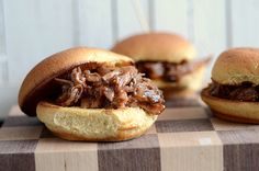 Slow cooked BBQ brisket sliders