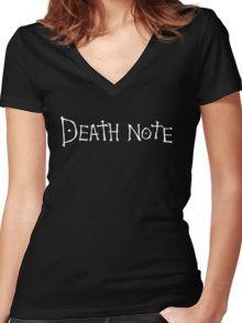 Death Anime Manga Shirt Women's Fitted V-Neck T-Shirt