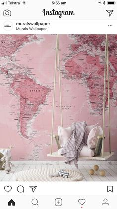 Our Pink World Map Wall Mural is a beautifully classic detailed textbook-style map with a pink twist perfect for those who want a map mural that is a little more quirky, guaranteed to create a brillia World Map Wallpaper, Wallpaper Murals, Pink Wallpaper Bedroom, Wallpaper Wallpapers, Globe Wallpaper, Blush Pink Wallpaper, Quirky Wallpaper, Wallpaper Furniture, Minimal Wallpaper
