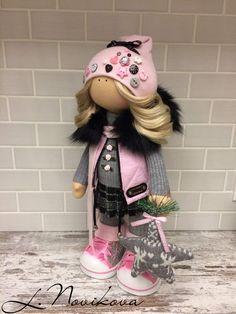 Куколка 43 см (вместе с шапкой). Выполнена на заказ. Едет в Иркутскую область.