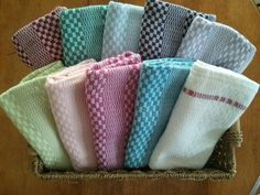 These handwoven tea towels are lovely! They're such great quality. I will definitely be buying more to give as Christmas gifts! Loom Weaving, Hand Weaving, Hand Towels, Tea Towels, Fibre, Detox Tea, Country Kitchen, Favorite Color, Etsy Seller