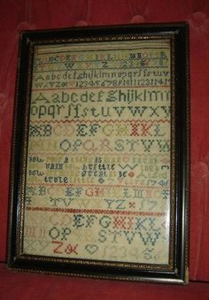 England Schoolgirl dated 1745 Needlework Sampler