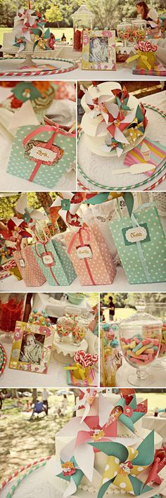 Vintage pinwheel party- love this for a baby shower or little girl birthday