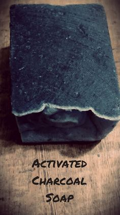 Activated Charcoal Soap with Rosemary and Tea by HappyKamperSoaps