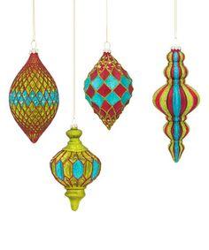 Look what I found on #zulily! Glitter Fluted Ornament Set #zulilyfinds