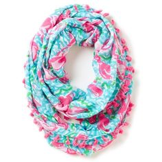 Lilly Pulitzer Women's Riley Tassel Trim Infinity Loop Scarf ($78) ❤ liked on Polyvore featuring accessories, scarves, pañuelos, tube scarf, lightweight infinity scarf, lilly pulitzer, circle scarf and loop scarves