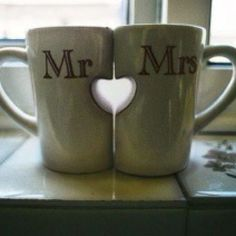 Derek and I have to have this at our wedding for coffee. Lol