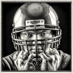 high school senior photography, football