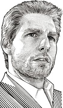Wall Street Journal Hedcuts by Randy Glass, Tom Cruise. Cartoon Sketches, Art Sketches, Art Drawings, Horse Drawings, Drawing Art, Pencil Portrait Drawing, Portrait Art, Pencil Art, Tom Cruise