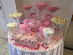 pink sweet tables for your wedding party or event in kent