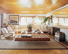 Tiffany Leigh Interior Design: Favourite Furniture Fridays: Barcelona Day Bed - this caramel coloured day bed is from Ralph Lauren's beach house in Long Island.  Exquisite!  Sigh!