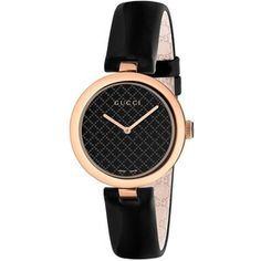 Gucci Dimantissima Analog Display Swiss Quartz Black Watch