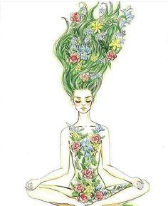 Yoga Art Illustration Namaste Ideas For 2019 Art And Illustration, Illustrations, Meditation Art, Yoga Art, Yoga Kunst, Yoga Drawing, Yoga Inspiration, Painting Inspiration, Art Inspo