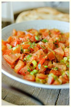Moroccan Tomato Salad - good for Summer when tomatoes are cheap and plentiful and most importantly flavourful