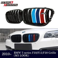 (47.06$)  Buy here  - M5 style grill 5 series f10 f11 f18 dual salt M-color front kidney grill grille mesh for bmw 5  2010 + 523i 528i  535i  550i