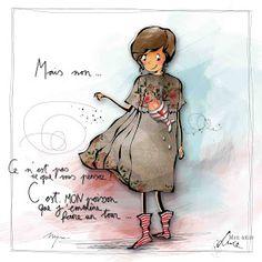 "MYRA & les couleurs ...: mon amie ""LUCE"" Fun Illustration, Illustrations, Image Positive, Girls Characters, Art Sketchbook, Cute Cartoon, Fun Projects, Diy Art, Art Girl"