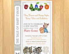Childrens Book Themed Baby Shower Invitation Collection Featured