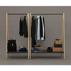 Toj Clothes Rack Designer: Simon Legald Manufactured by: Normann Copenhagen Dimensions (in): see Options below Toj is a clothes rack with an industrial and simple expression. Its function is evident a