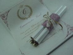 Convite Pergaminho Princesa