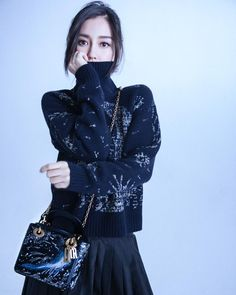 In parallel with #MariaGraziaChiuri's 'I Feel Blue' Shanghai experience, the 'Dior Moon' capsule collection of three limited-edition 'Lady Dior' bags from Autumn-Winter 2017-18 is getting an exclusive advance release in China. To mark the occasion, discover one of them as carried by AngelaBaby.