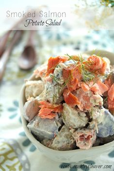 Smoked Salmon Potato Salad - www.countrycleaver.com Perfect for your next picnic
