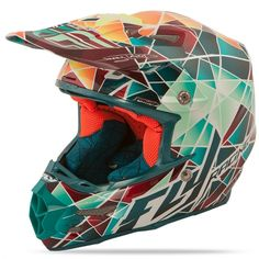 Formula Facet Teal/Orange/Yellow Helmet | FLY Racing | Professional grade Motocross, BMX, MTB, Offroad, ATV, Snowmobile, and Watercraft apparel and hard parts... i NEEEEED this!