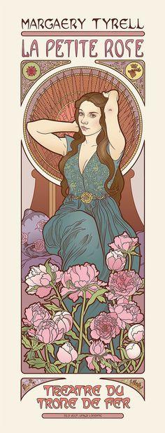 Les filles de Game of Thrones dans le style Art Nouveau : Margaery Tyrell