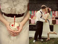 Wedding Ice cream Station #yum #sweet #table #milkshake-bar #ice-cream #station #happy #froyo  More inspiration: www.fb.com/labolaweddings twitter.com/lala4e_labola
