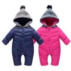 >> Click to Buy << 2016 Baby boys winter thick rompers baby girls snowsuit coat kids outerwear clothes children Solid jumpsuit infant costume #Affiliate