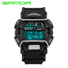 Special price SANDA Fashion Men Sports Watches Silicone LED Men Digital Watches For Men Sports Wristwatches Sport Watch Relogio Masculino  just only $10.80 with free shipping worldwide  #menwatches Plese click on picture to see our special price for you