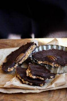 Raw Chocolate Coconut Almond Butter Cups