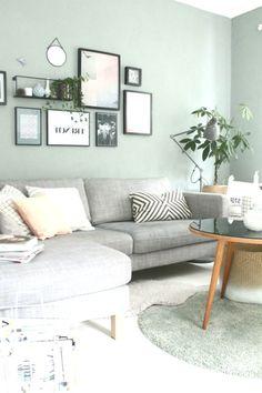 Wandfarbe Wohnzimmer Blau Grau Wandfarbe Wohnzimmer Graue Couch Trendige Wandfar Wall Color Living R Living Room Accents, Living Room Colors, Living Room Paint, Living Room Grey, Living Room Decor, Living Rooms, Grey Wall Color, Blue Grey Walls, Gray Painted Walls