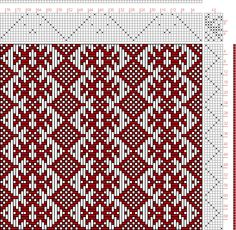 Hand Weaving Draft: Scandanavian Pattern, , 11S, 7T - Handweaving.net hmm...can I turn this pattern?