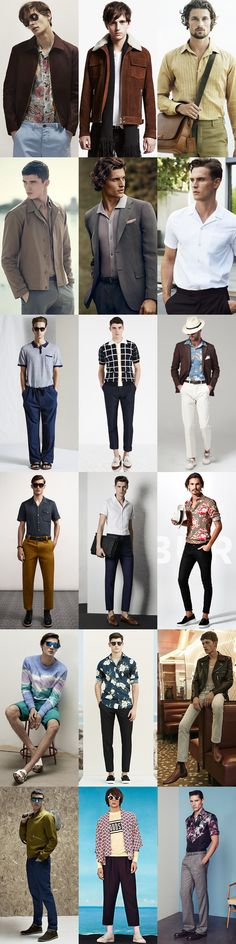 Men's 2015 Spring/Summer Fashion Trend: 1970s Modern Lookbook Inspiration