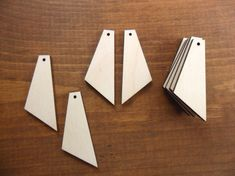 Dangle Wood Earring Blanks Tapered 2 50 8mm H X 3 4 19mm W 1 8 3mm Laser Cut Jewelry Shapes 25 Pieces