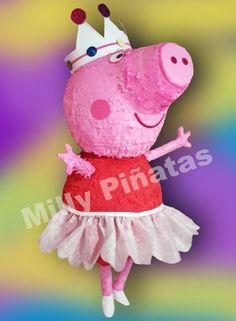 Piñata Peppa Pig bailarina, fiesta, Milly Piñatas