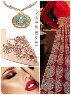 Rich, royal inspired styling to make your entire outfit and look sing! By www.soniacollection.com