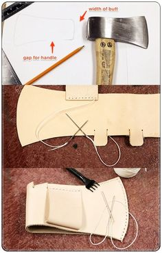 """How to Make a Leather Sheath for a Hatchet Homesteading - The Homestead Survival .Com """"Please Share This Pin"""""""