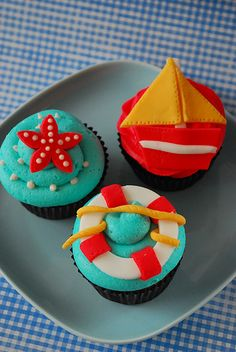 Nautical trio by cotton candy bakeshop, via Flickr