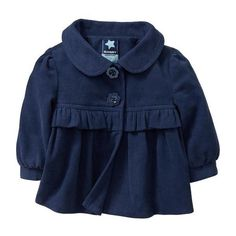 Old Navy Ruffle Flower Button Coats For Baby ($25) ❤ liked on Polyvore