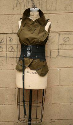 SALE Noir Belt Fashion Accessories Edgy- Industrial Elastic Belt womens SMALL Belt
