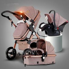 - Size: about 31 *20* 43 Inches - Many Colors To Chose From - 3 In 1 - Shock Proof - Two-way Trolley Baby - Baby Stroller Can Sit and lie - Four Wheel - Portable Folding - Portable #Strollers