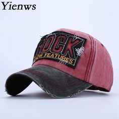 1eb565d0ce8c9 Yienws Fashion Embroidery Letter Brand Men Curved Full Baseball Cap Rock  Bone 5 Panel Curved Gorras Planas YIC436-in Baseball Caps from Men s  Clothing ...