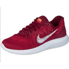 Bling Swarovski Nike Lunerglide 8/Nike bling/bling Nike shoes/burgundy... ($170) ❤ liked on Polyvore featuring shoes, grey, sneakers & athletic shoes, tie sneakers, women's shoes, swarovski crystal shoes, burgundy shoes, grey shoes, gray shoes and embellished shoes