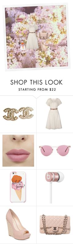 """Spring is here"" by chanalieberman on Polyvore featuring Chanel, Uttam Boutique, Oliver Peoples, Kate Spade, Beats by Dr. Dre and Jessica Simpson"