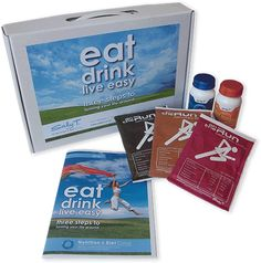 ORDER the Eat Drink Live Easy Pack - SallyT | Nutrition and Diet Clinic Clinic, Packing, Nutrition, Diet, Drinks, Easy, Products, Bag Packaging, Drinking