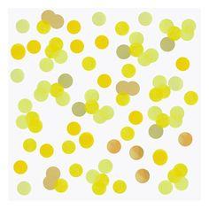 Tafel confetti Groot 2,5 cm - Per zakje van 15 gram www.confettienco.be #decoratie #verjaardag #feest #kinderen #confetti #tafel #geel #webshop