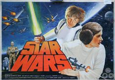 Star Wars - A New Hope 1977 British Quad by Tom Beauvais Star Wars Poster, Star Wars Art, Star Wars Episode Iv, Mark Hamill, A New Hope, Love Stars, Good Movies, Darth Vader, Comics