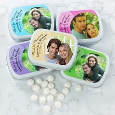 Personalized Photo Design Mint Tins | for Wedding Favors and special occasions