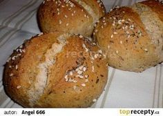 Jogurtové dalamánky - My site Slovak Recipes, Czech Recipes, Bread Recipes, Cooking Recipes, Ethnic Recipes, Bread And Pastries, Bread Rolls, Baked Goods, Bakery